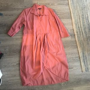 UniversalStandard size L (22/24w) pink shirt dress